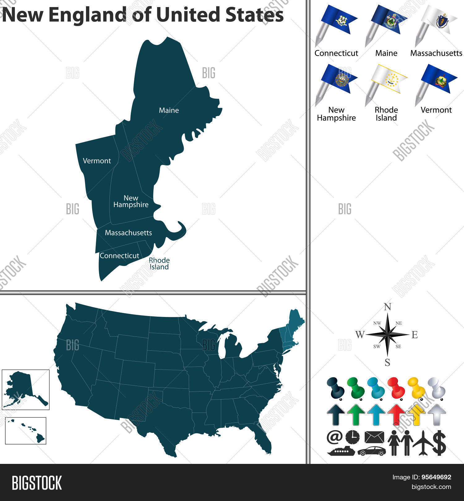 New England United Vector & Photo (Free Trial) | Bigstock