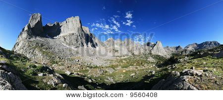 mountain panorama in the Cirque of the Towers in the Wind River Range of Wyoming poster
