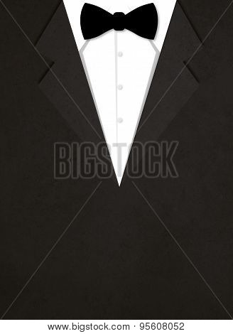 illustration of business suit with bow