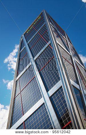 Madrid city, business centre, modern skyscrapers, Cuatro Torres