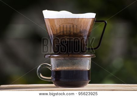 Dripping Fresh Hot Coffee
