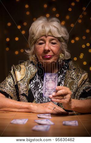 Elder Female Foretelling Future
