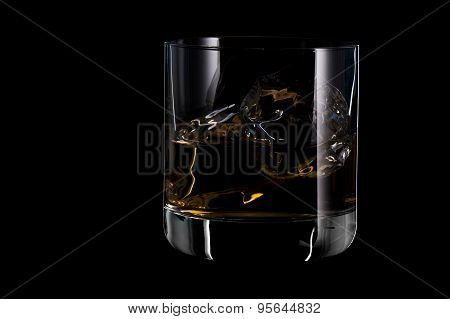 Glass of Whiskey On The Rock