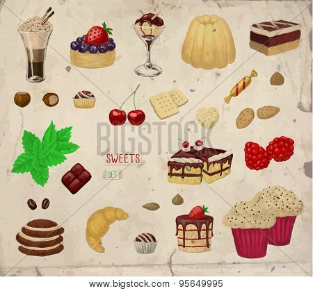 Hand-drawn Desserts