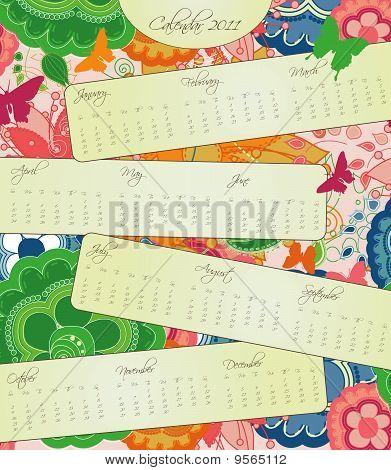 Sweet Blossom Calendar for 2011