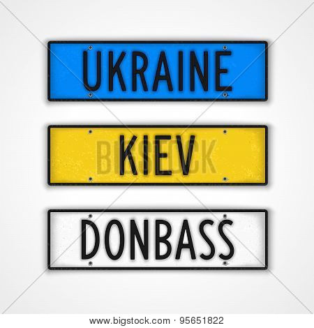 The Ukraine Style Car Signs