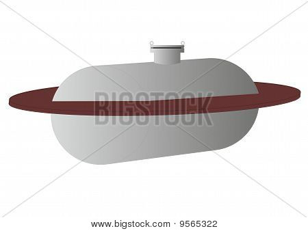 Buried tank (illustration).