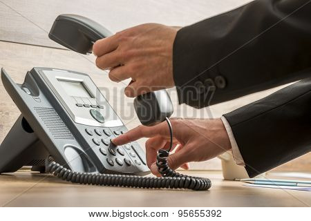 Communication Operator Dialing A Telephone Number