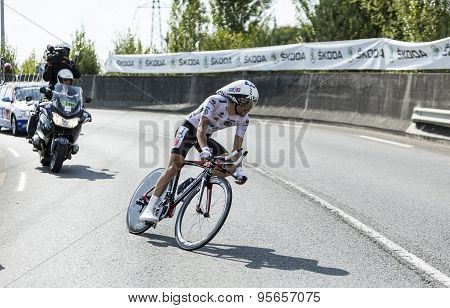 The Cyclist Thibaut Pinot - Tour De France 2014