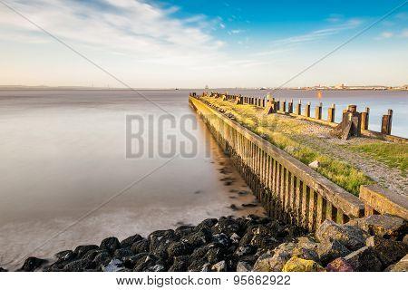 Rocky Portishead coast line