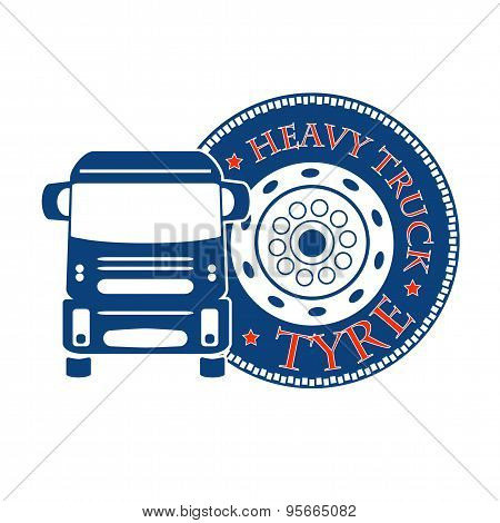 Vector Illustration Design Hevy Truck Automobile Service