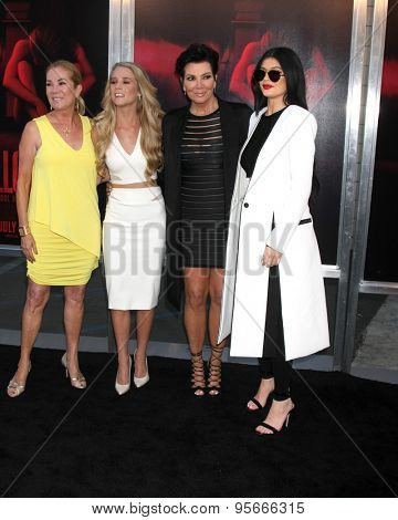 LOS ANGELES - JUL 7:  Kathie Lee Gifford, Cassidy Gifford, Kris Jenner, Kylie Jenner at the