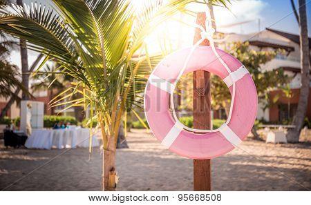 Life Belt On The Beach
