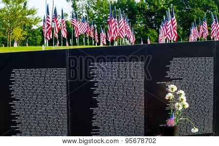 Flags And Memorial