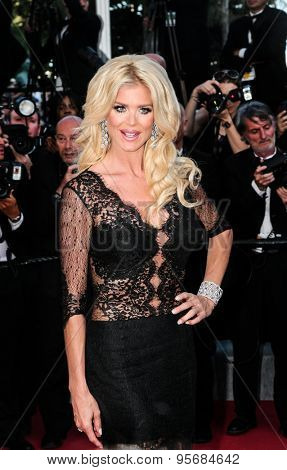 Victoria Silvstedt attends the 'Carol' premiere during the 68th annual Cannes Film Festival on May 17, 2015 in Cannes, France.