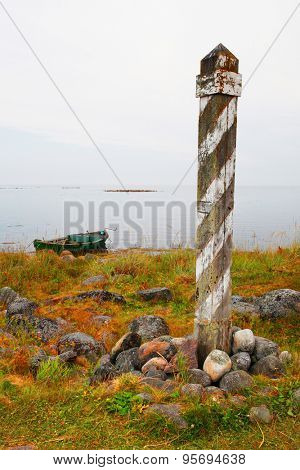 surveying post on Solovetskiy island