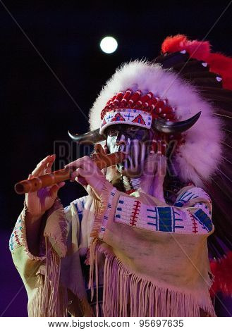 Indian Man With Flute