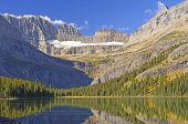 Early Morning Light on the Glacial Carved Mountains of the Grinnel Glacier in Glacier National Park in Montana poster