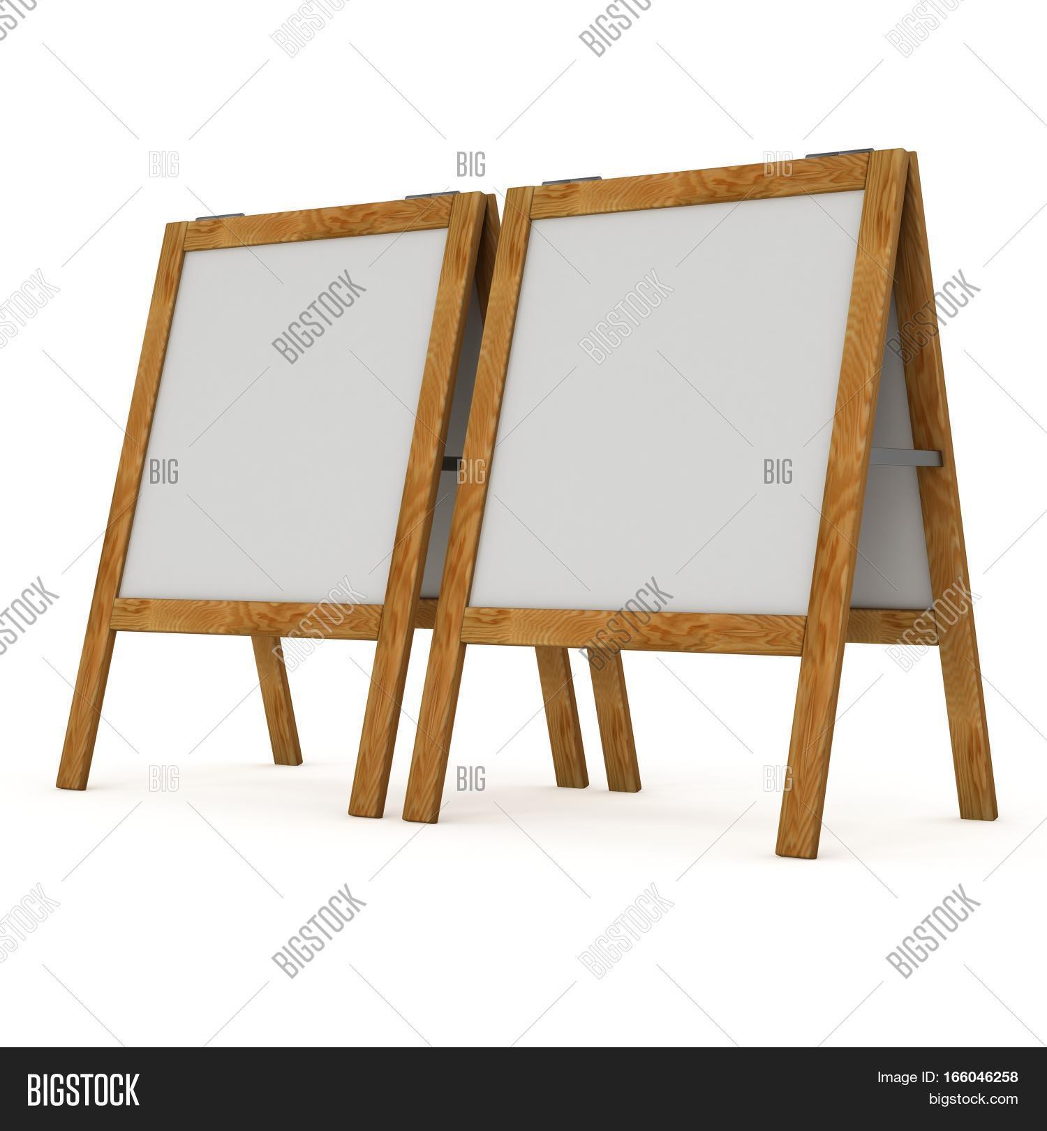 Sandwich Board. Blank Image & Photo (Free Trial) | Bigstock