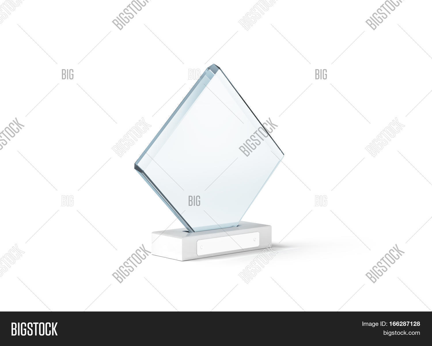 Blank Glass Trophy Image & Photo (Free Trial) | Bigstock