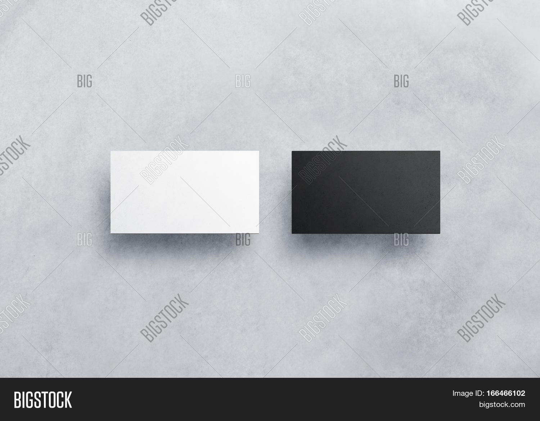 Two Blank Business Card Mockups Image & Photo   Bigstock