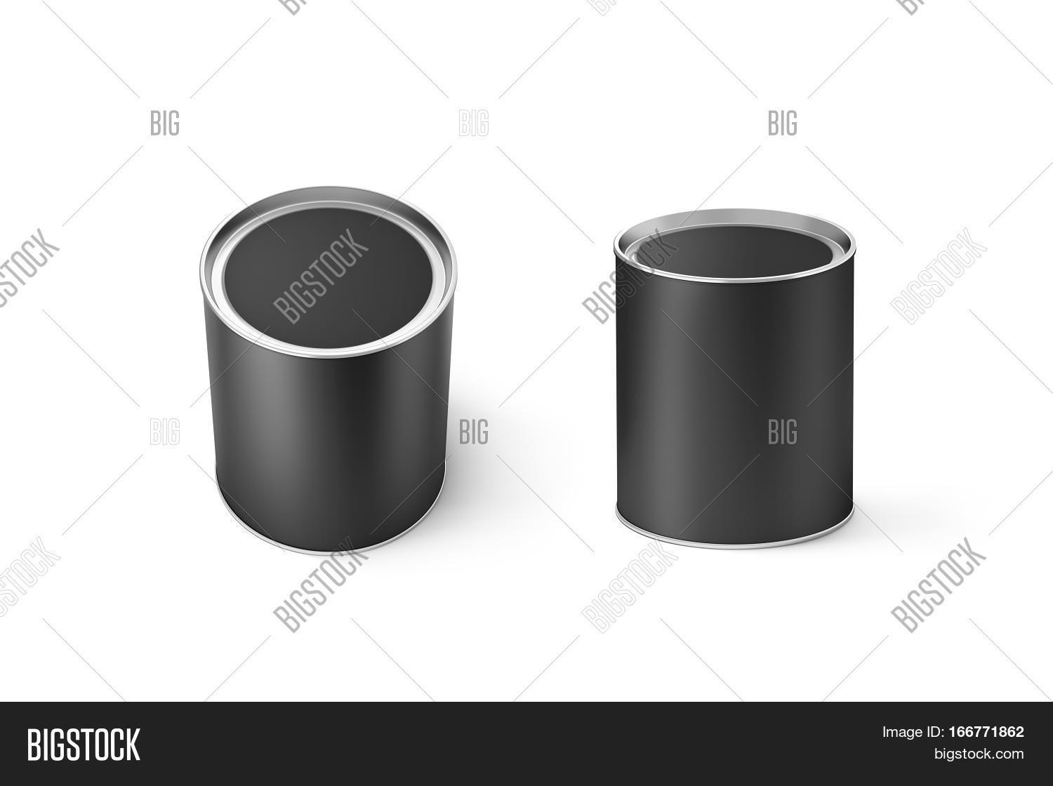 Blank Black Round Can Image Photo Free Trial Bigstock