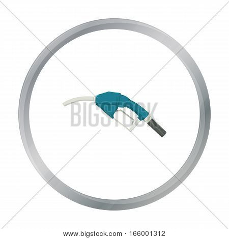 Fuel nozzle icon in cartoon style isolated on white background. Oil industry symbol vector illustration. - stock vector