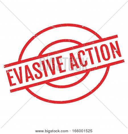 Evasive Action rubber stamp. Grunge design with dust scratches. Effects can be easily removed for a clean, crisp look. Color is easily changed.