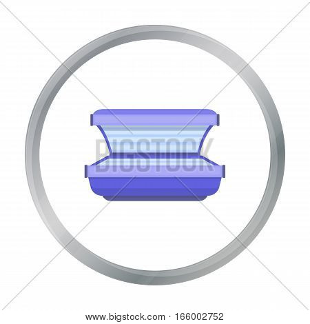 Tanning bed icon in cartoon style isolated on white background. Skin care symbol vector illustration. - stock vector