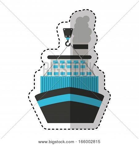 ship boat transport isolated icon vector illustration design