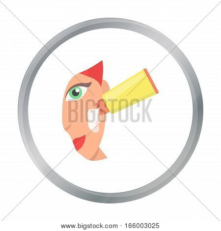Cream for face icon in cartoon style isolated on white background. Skin care symbol vector illustration. - stock vector