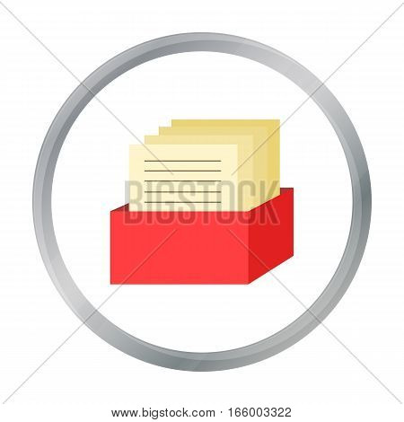 Archive icon cartoon. Single education icon from the big school, university cartoon. - stock vector