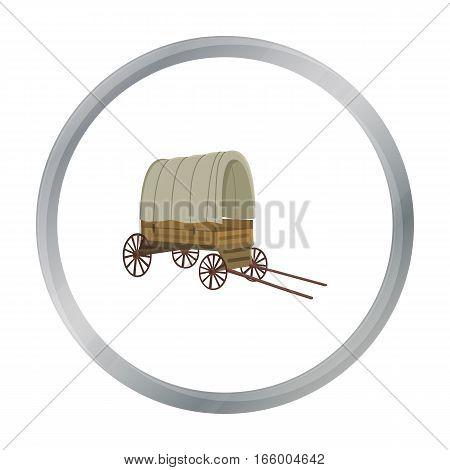 Cowboy wagon icon cartoon. Singe western icon from the wild west cartoon.
