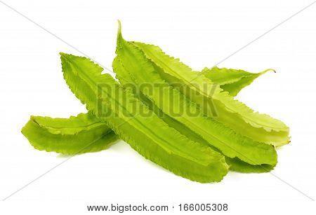 Psophocarpus Tetragonolobus Isolated On The White Background