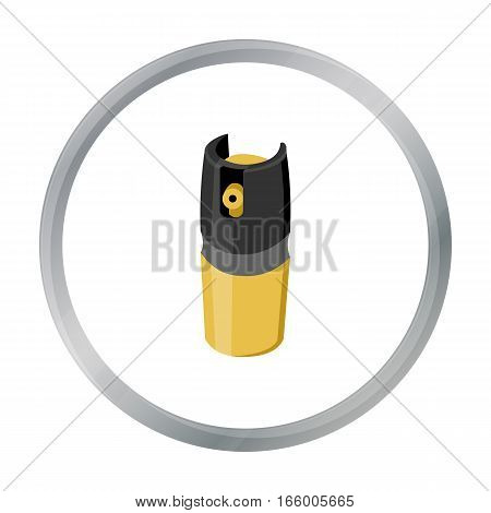 Gas canister icon cartoon. Single weapon icon from the big ammunition, arms cartoon