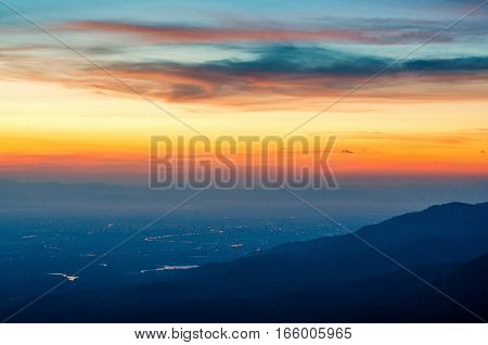 sunrise at Mon long Chiang mai Thailand