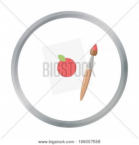 Picture cartoon icon. Illustration for web and mobile. - stock vector