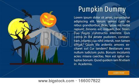 Pumpkin Dummy Conceptual Banner Great flat design illustration concepts for halloween, holiday, horror, night and much more.
