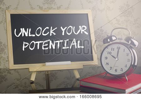 Unlock Your Potential On Blackboard With Flare And Clock.