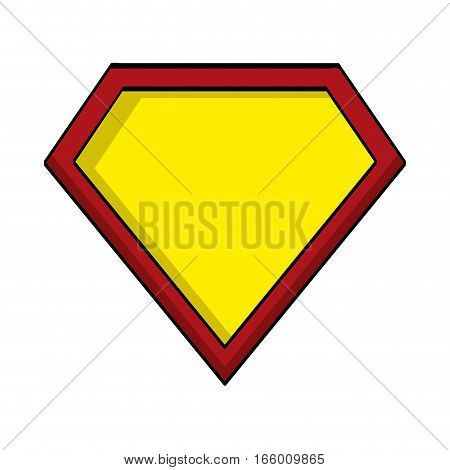 hero shield isolated icon vector illustration design