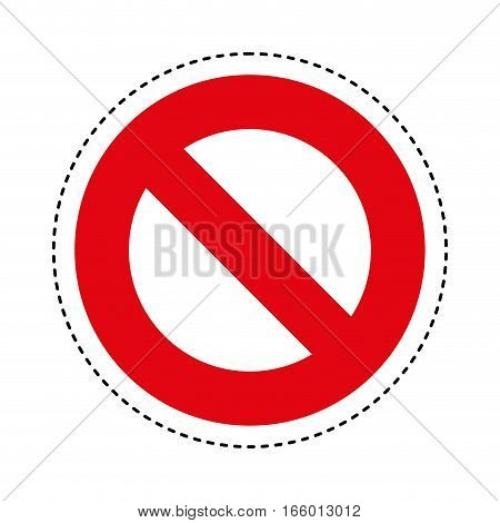denied sign isolated icon vector illustration design