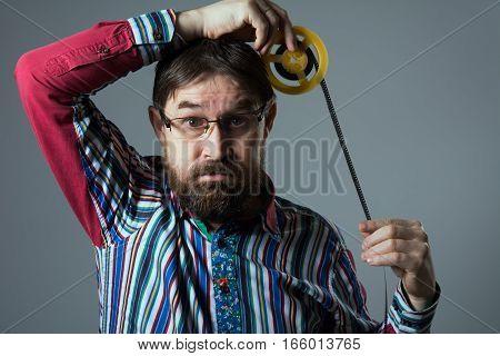 Bearded Man Reel Film
