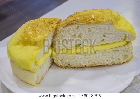 Pineapple Bun Serve With Butter