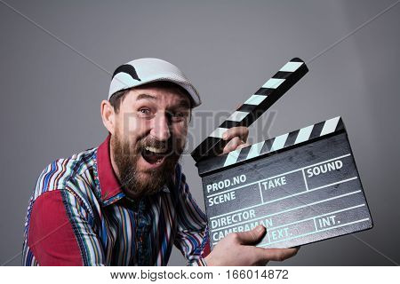 Smiling Man With Clapper Movie