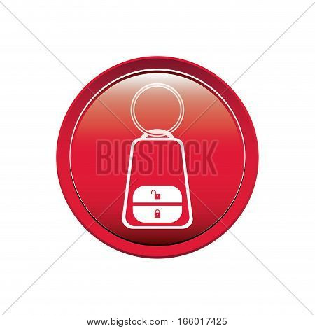 button key alarm system car vector illustration