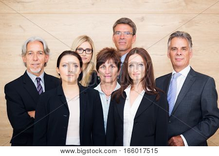 business team posing for a group shot