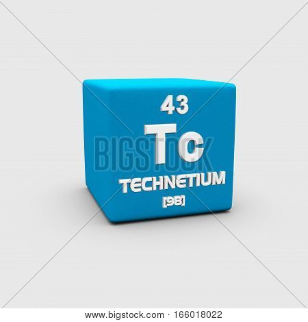 Technetium is a chemical element with symbol Tc and atomic number 43.