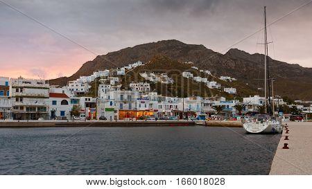 LIVADI, GREECE - JANUARY 11, 2017: Serifos island in the Aegean Sea, Greece on January 11, 2017.