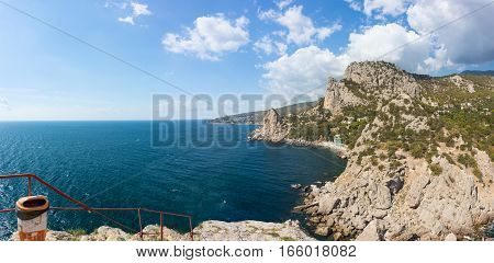 The view from the rock Diva on the Western part of Simeiz. Crimea Russia