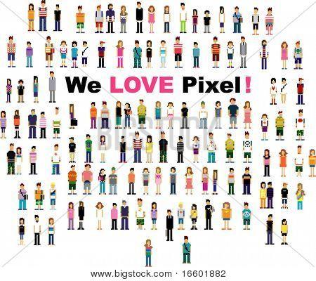 hübsch Pixel Menschen Version 2